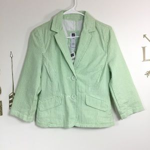 NWT GAP PINSTRIPED BLAZER